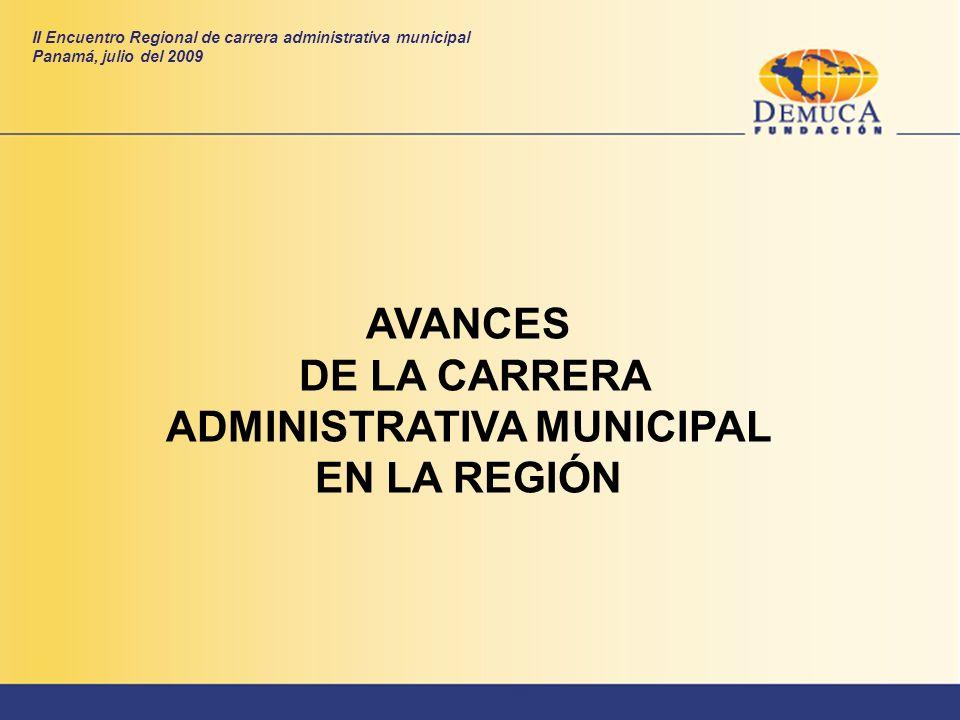 DE LA CARRERA ADMINISTRATIVA MUNICIPAL