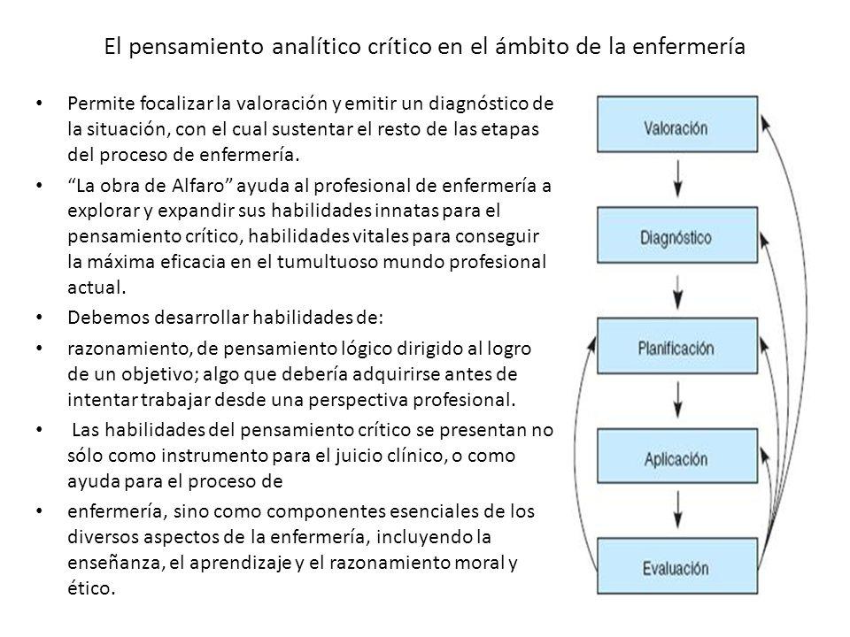 El pensamiento analítico crítico en el ámbito de la enfermería