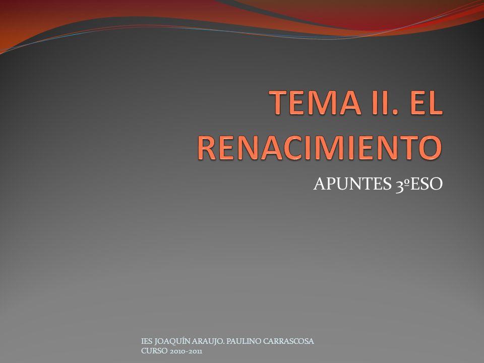 TEMA II. EL RENACIMIENTO