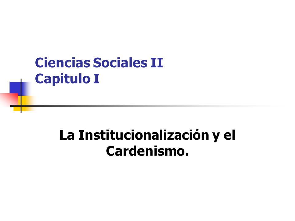 Ciencias Sociales II Capitulo I