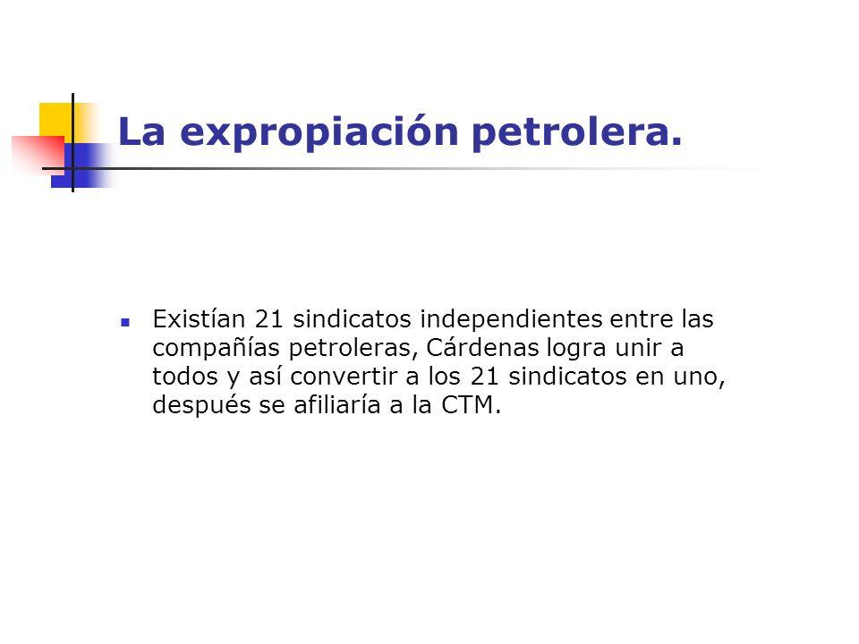 La expropiación petrolera.