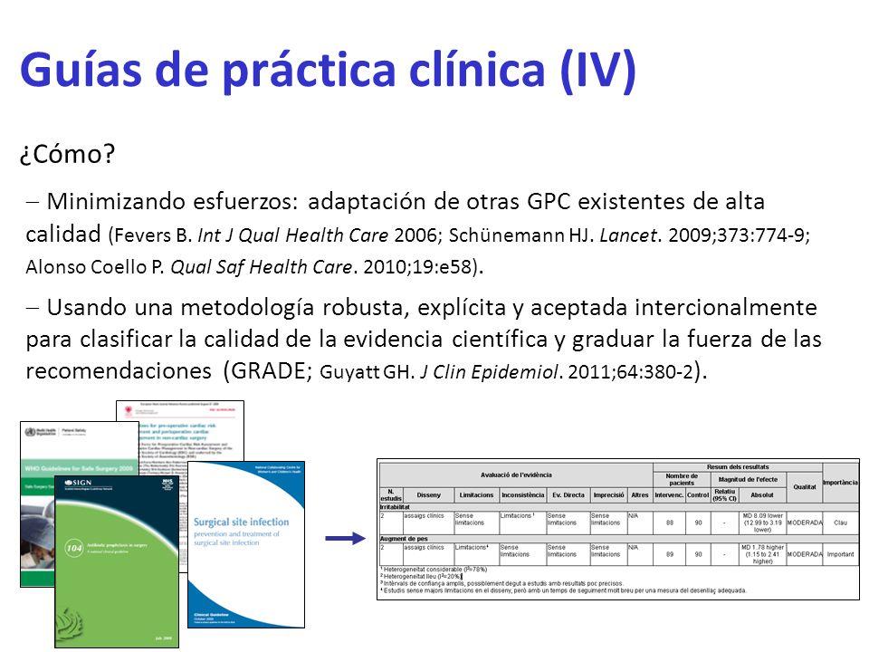 Guías de práctica clínica (IV)