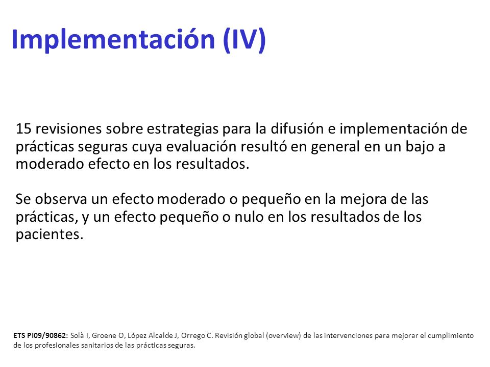 Implementación (IV)