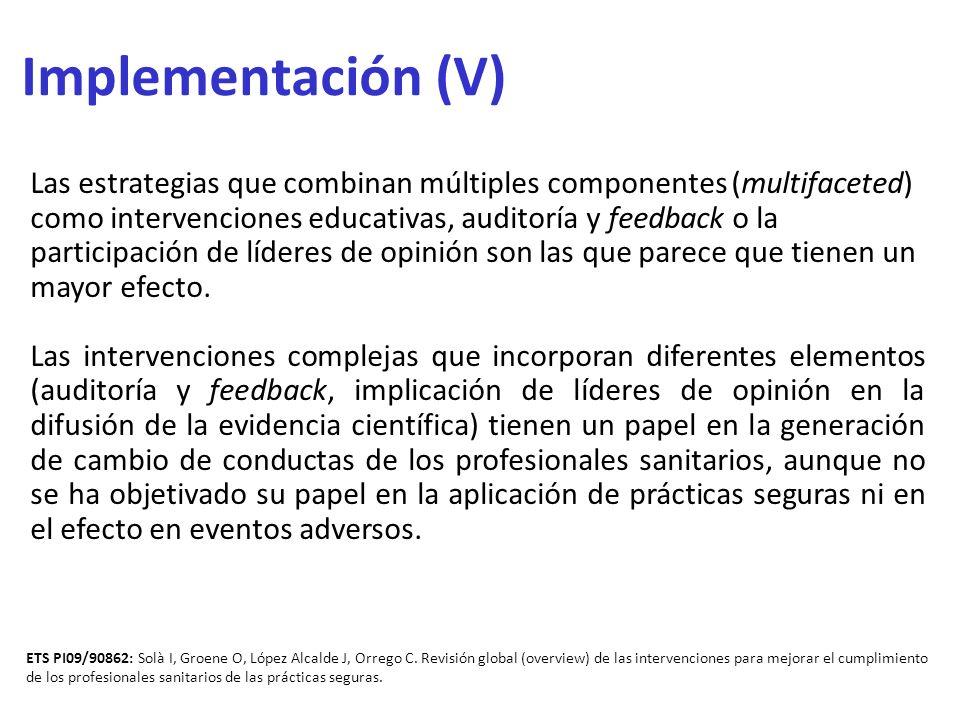 Implementación (V)