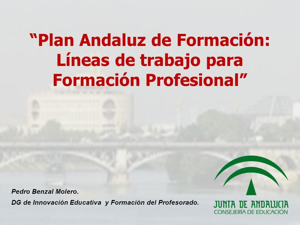 Plan Andaluz de Formación: Líneas de trabajo para Formación Profesional