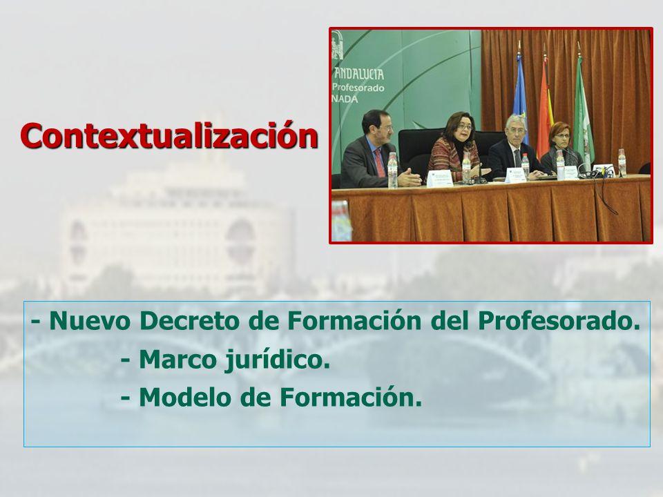 Contextualización - Nuevo Decreto de Formación del Profesorado.