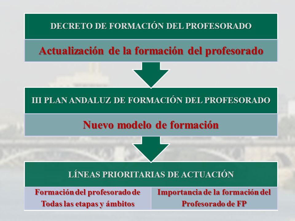 Actualización de la formación del profesorado