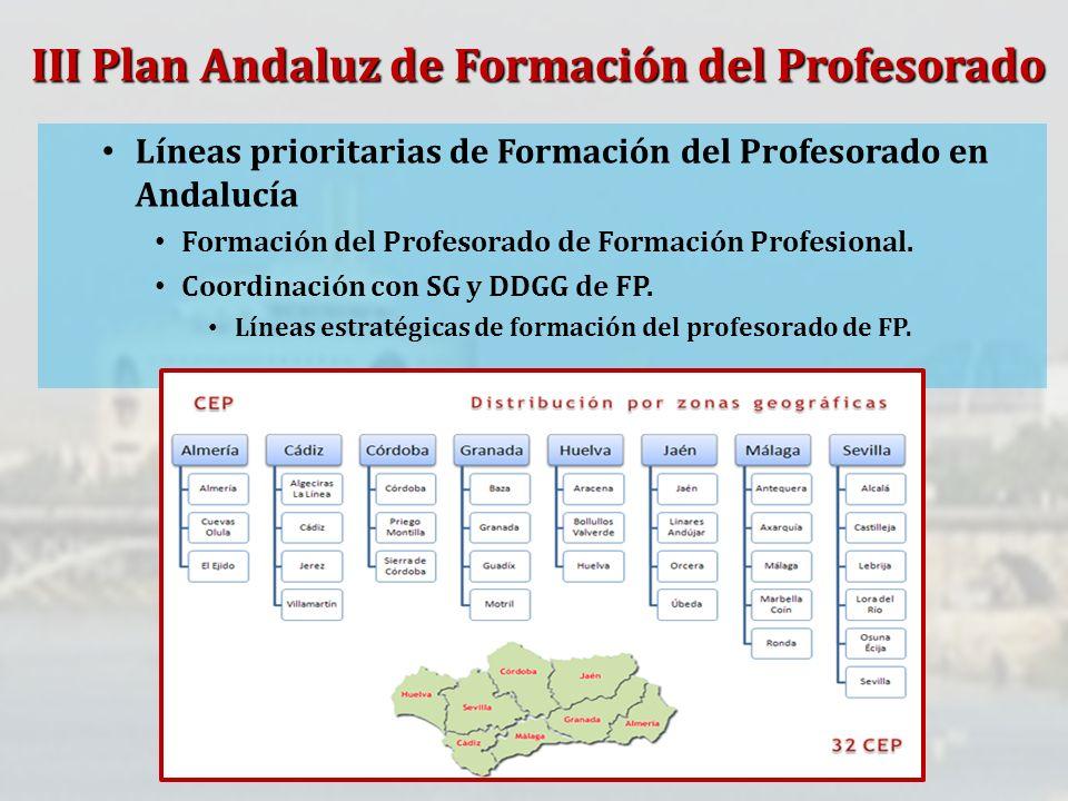 III Plan Andaluz de Formación del Profesorado