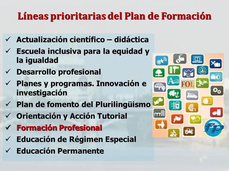 Líneas prioritarias del Plan de Formación