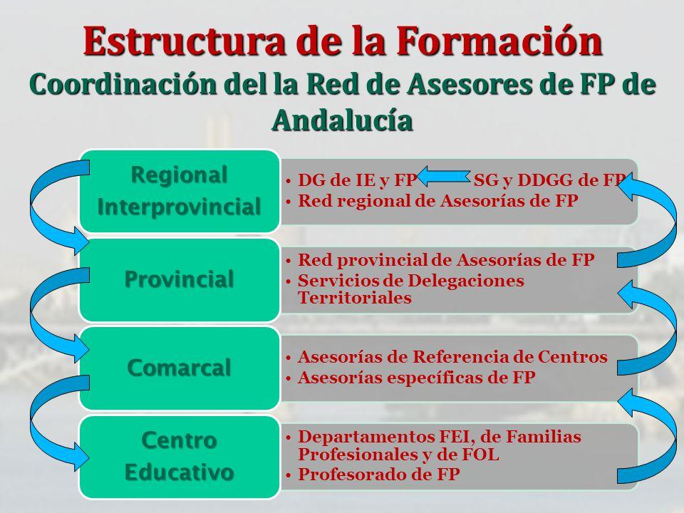 Estructura de la Formación Coordinación del la Red de Asesores de FP de Andalucía