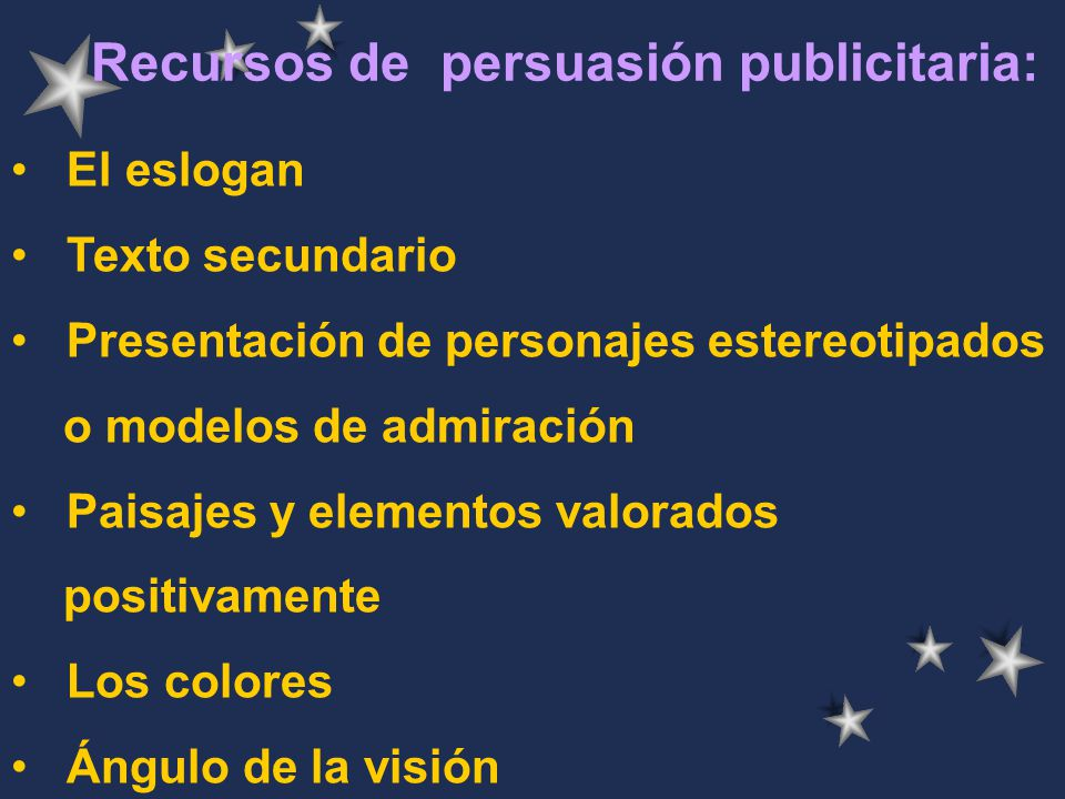 Recursos de persuasión publicitaria: