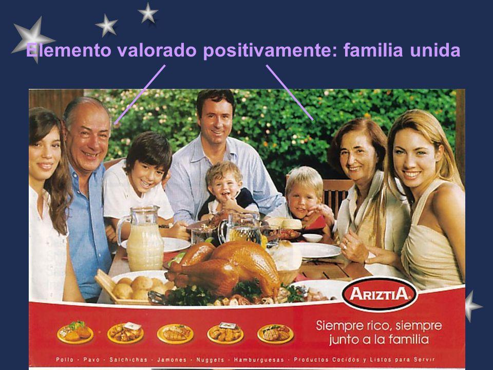 Elemento valorado positivamente: familia unida
