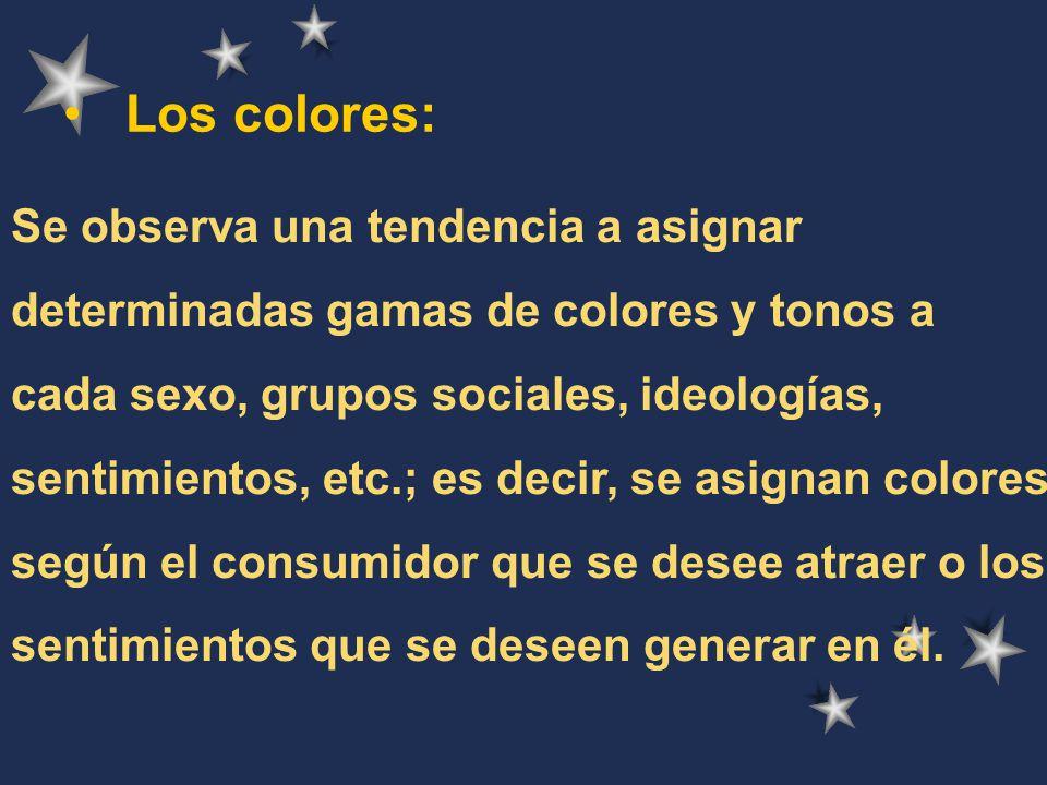 Los colores: Se observa una tendencia a asignar