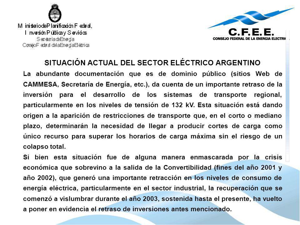 SITUACIÓN ACTUAL DEL SECTOR ELÉCTRICO ARGENTINO