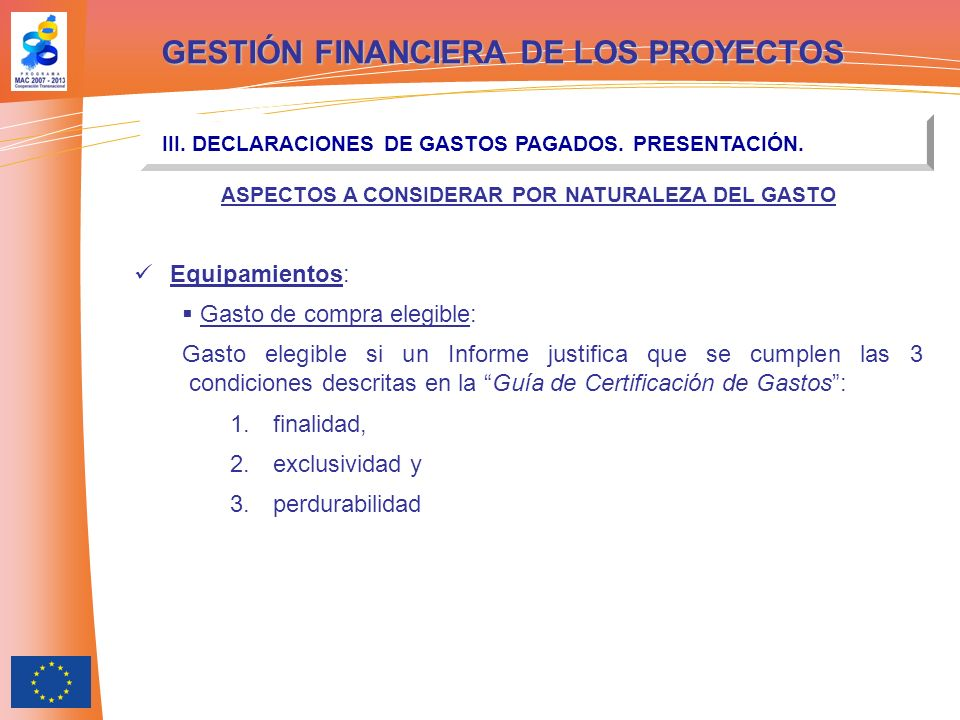 GESTIÓN FINANCIERA DE LOS PROYECTOS