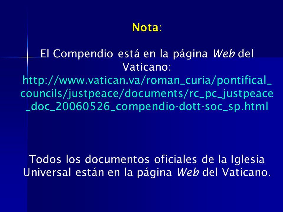 El Compendio está en la página Web del Vaticano: