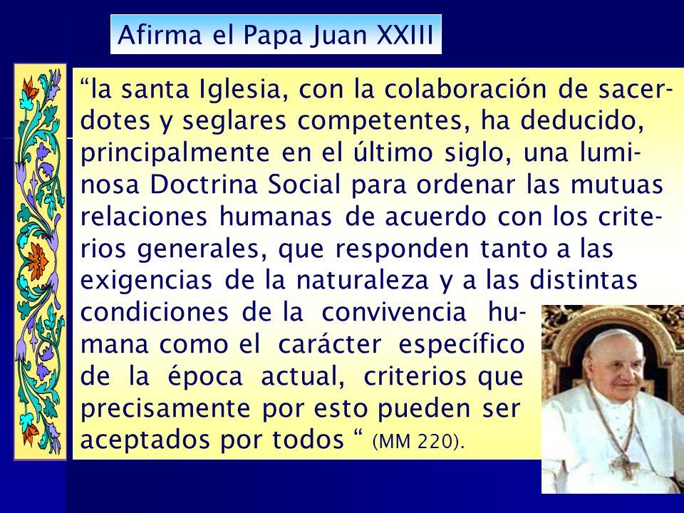 Afirma el Papa Juan XXIII