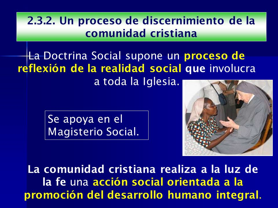 2.3.2. Un proceso de discernimiento de la comunidad cristiana