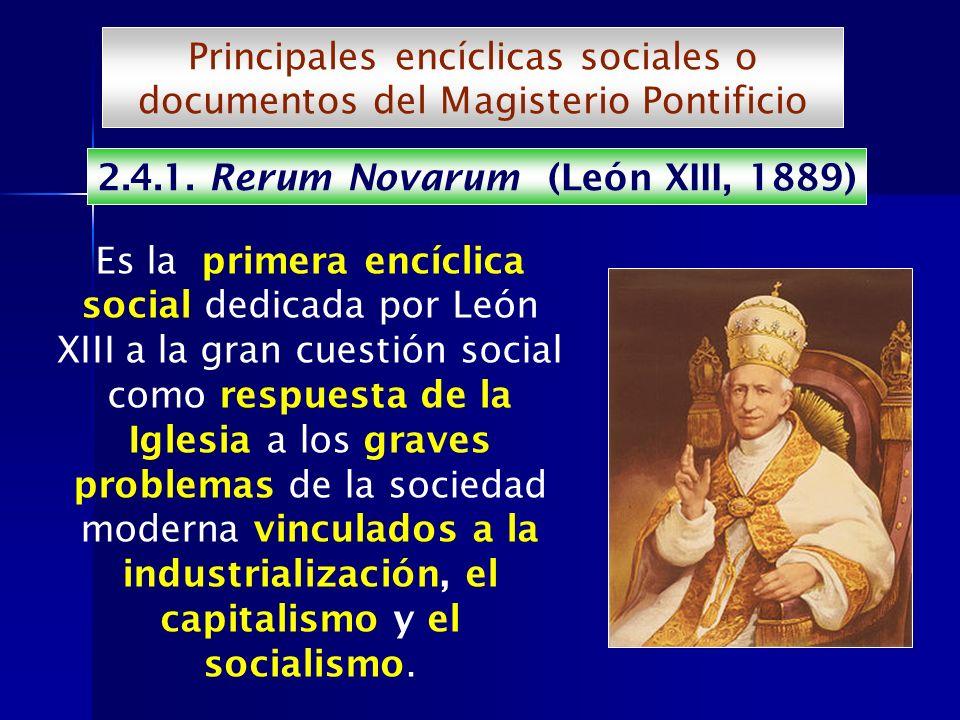 2.4.1. Rerum Novarum (León XIII, 1889)