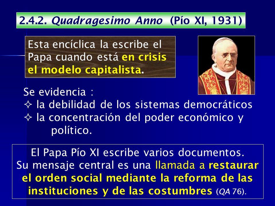 El Papa Pío XI escribe varios documentos.