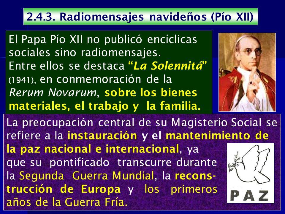 2.4.3. Radiomensajes navideños (Pío XII)