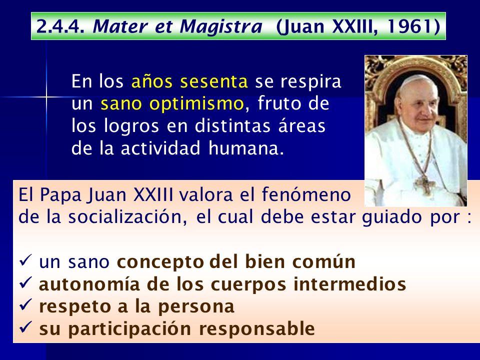 2.4.4. Mater et Magistra (Juan XXIII, 1961)