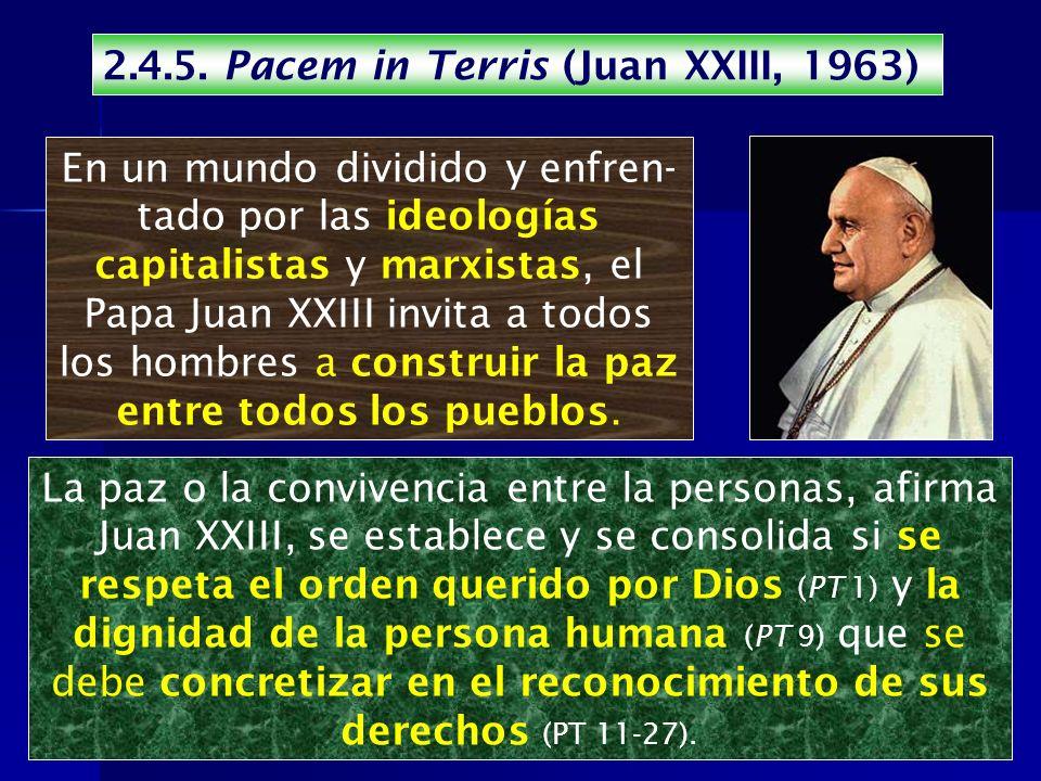 2.4.5. Pacem in Terris (Juan XXIII, 1963)