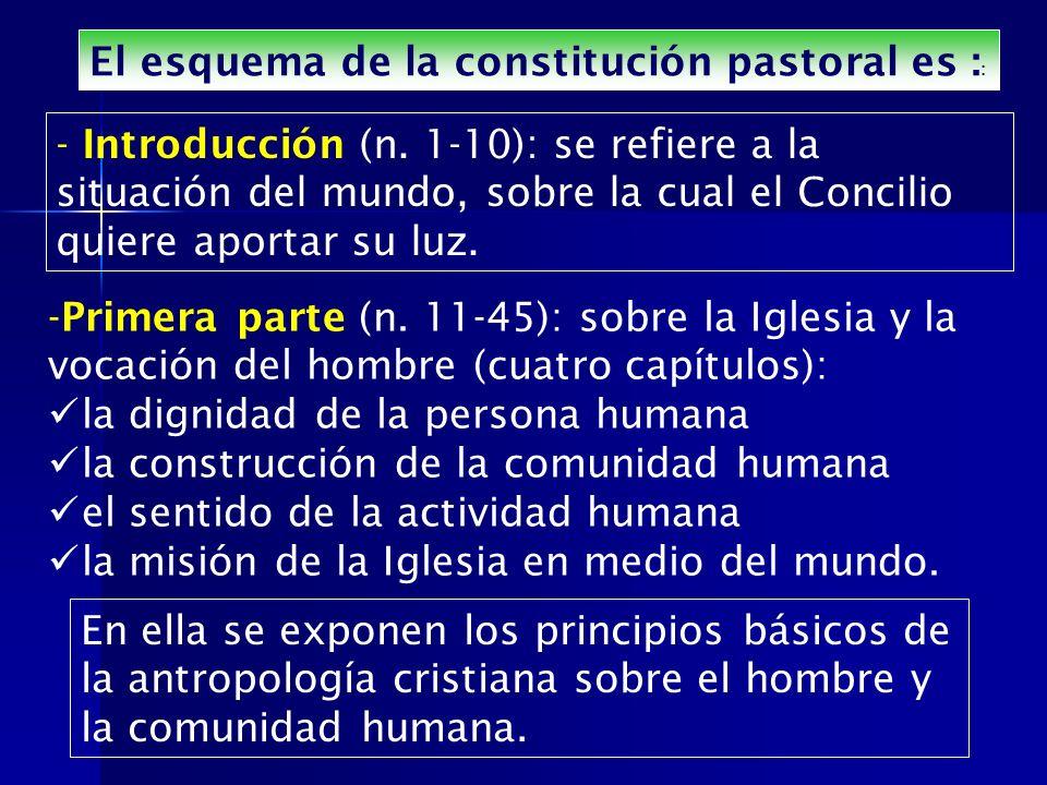 El esquema de la constitución pastoral es ::