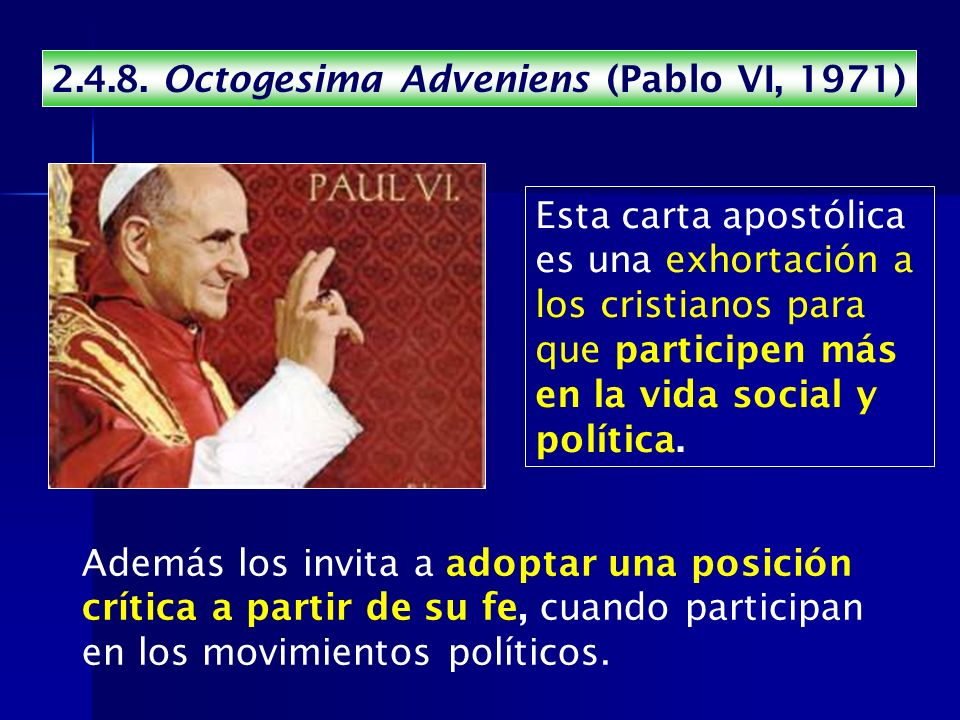 Octogesima Adveniens (Pablo VI, 1971)