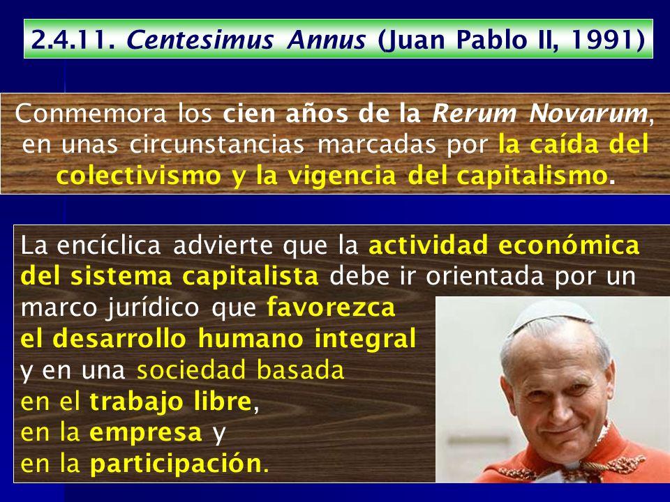 2.4.11. Centesimus Annus (Juan Pablo II, 1991)