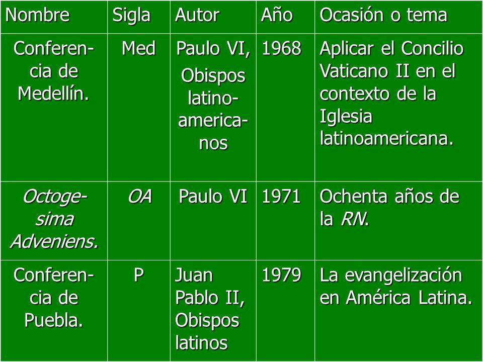 Conferen-cia de Medellín. Med Paulo VI, Obispos latino-america-nos