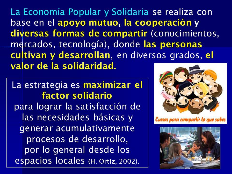 La estrategia es maximizar el factor solidario