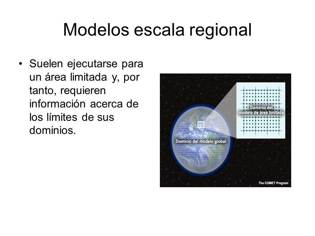 Modelos escala regional