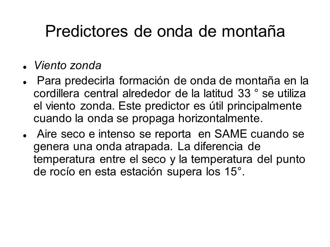 Predictores de onda de montaña