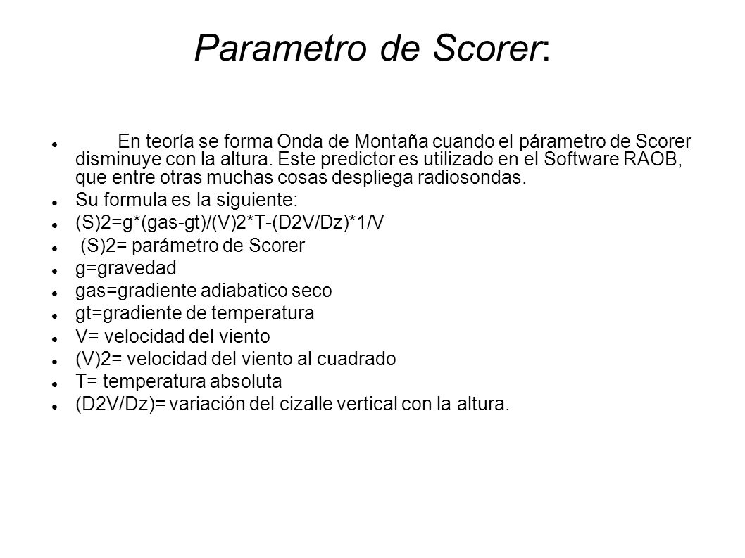 Parametro de Scorer:
