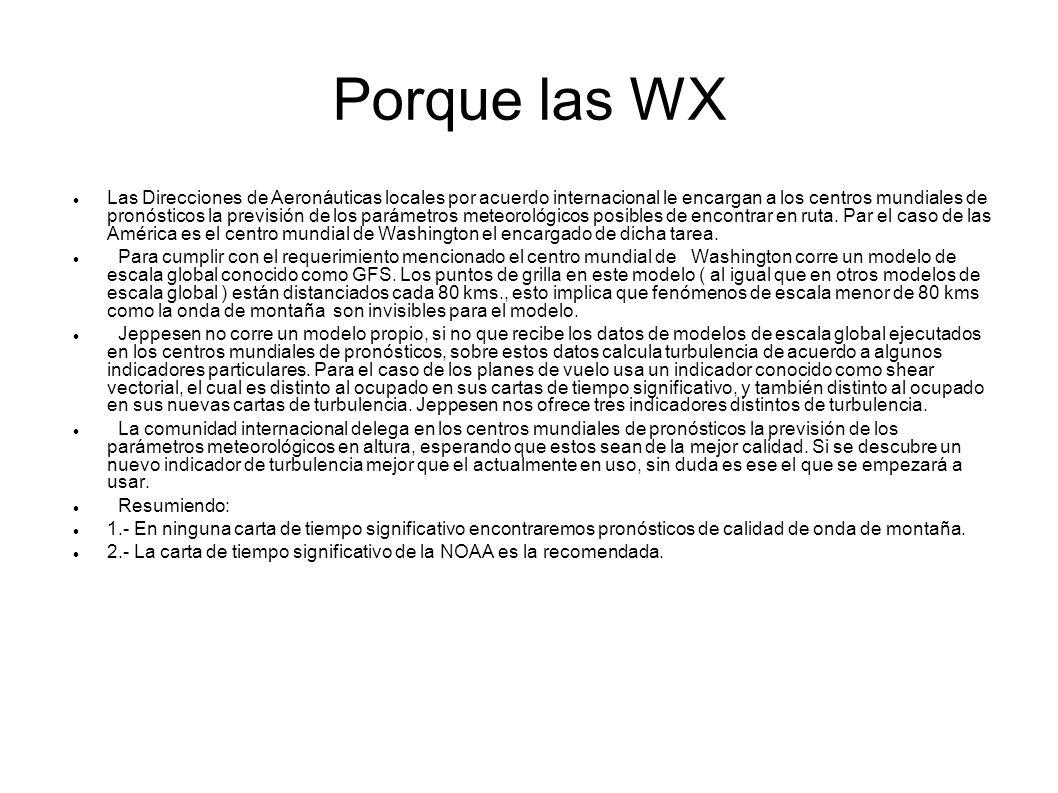 Porque las WX