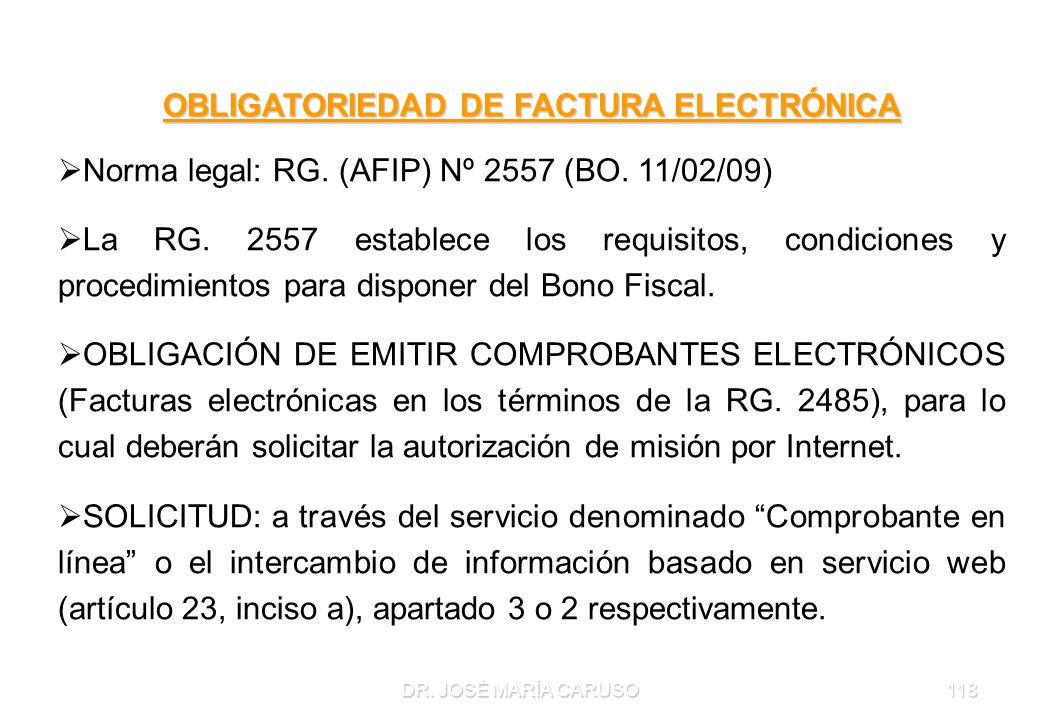 OBLIGATORIEDAD DE FACTURA ELECTRÓNICA