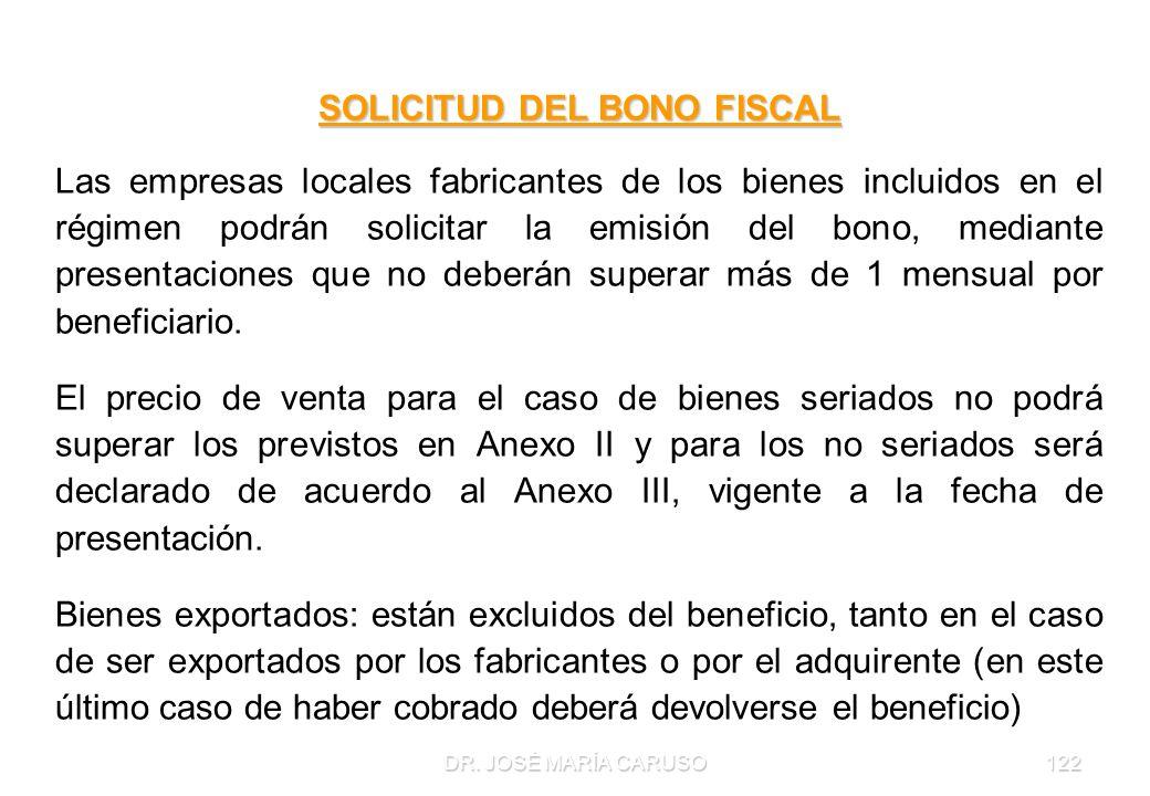 SOLICITUD DEL BONO FISCAL