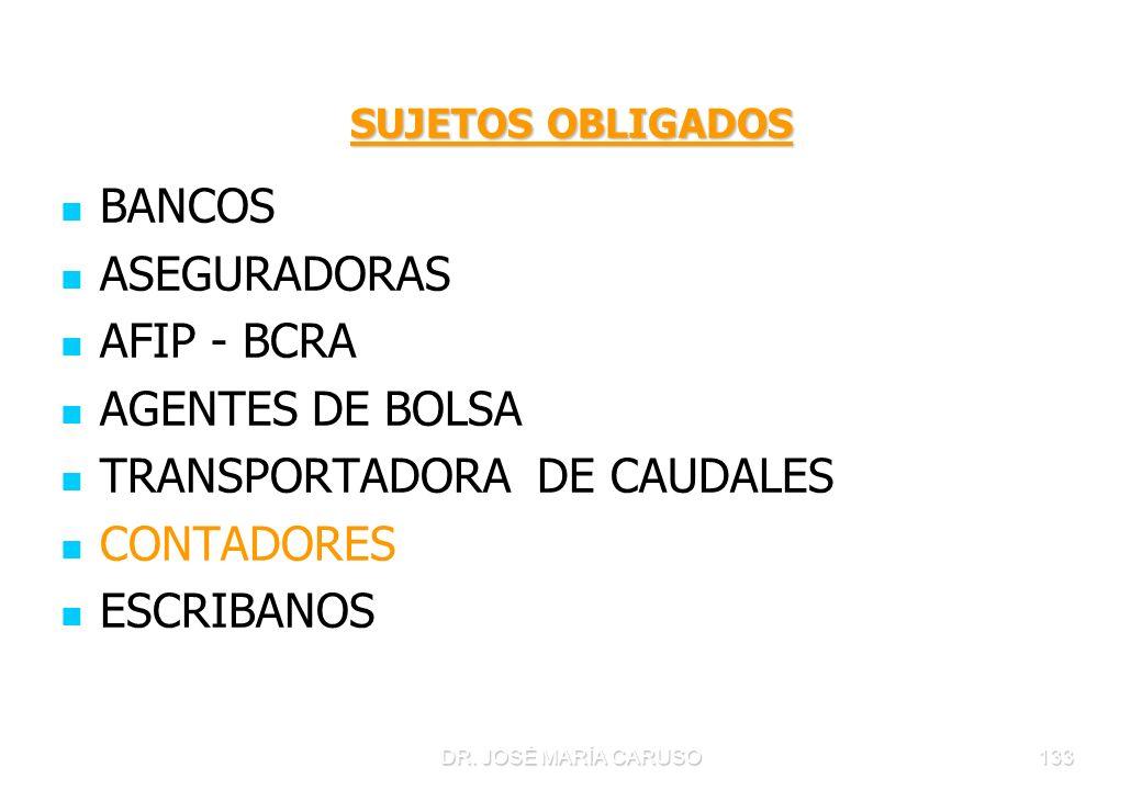 TRANSPORTADORA DE CAUDALES CONTADORES ESCRIBANOS