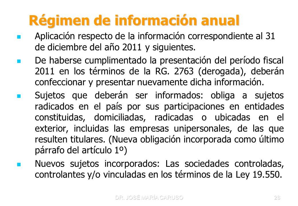 Régimen de información anual