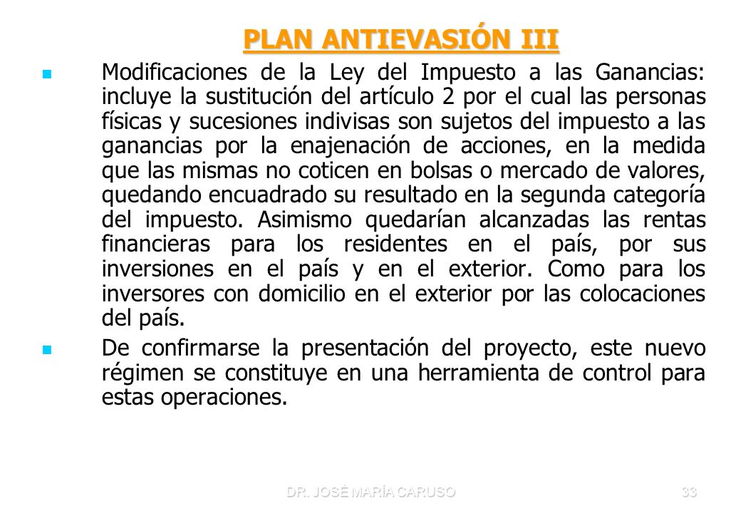 PLAN ANTIEVASIÓN III