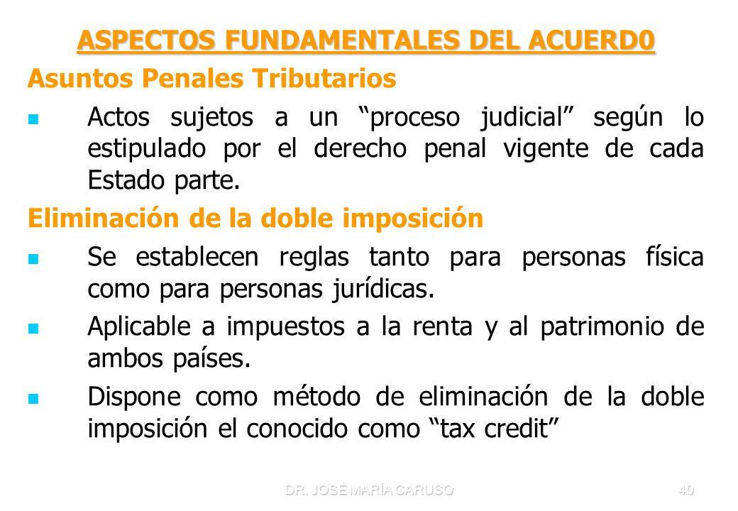 ASPECTOS FUNDAMENTALES DEL ACUERD0