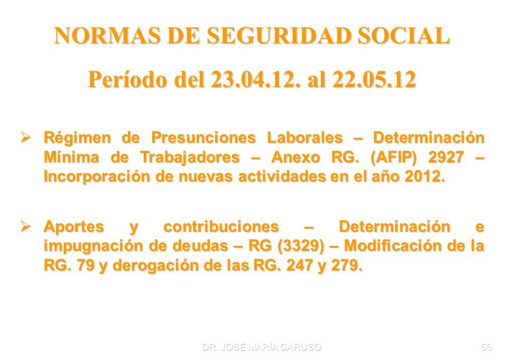 NORMAS DE SEGURIDAD SOCIAL