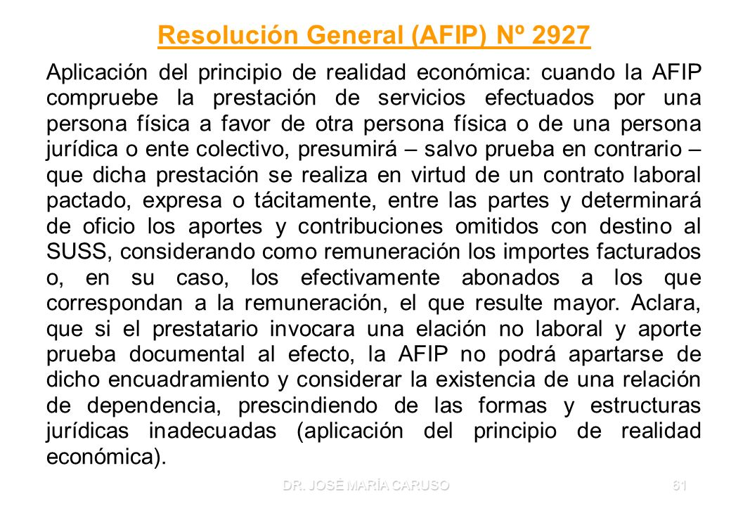 Resolución General (AFIP) Nº 2927