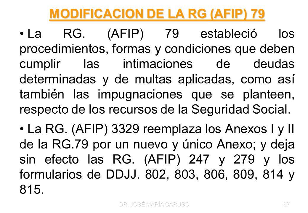 MODIFICACION DE LA RG (AFIP) 79