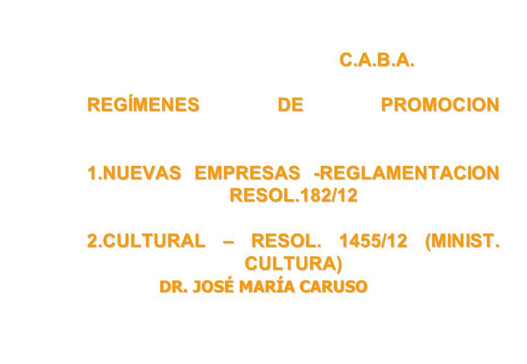 C. A. B. A. REGÍMENES DE PROMOCION 1
