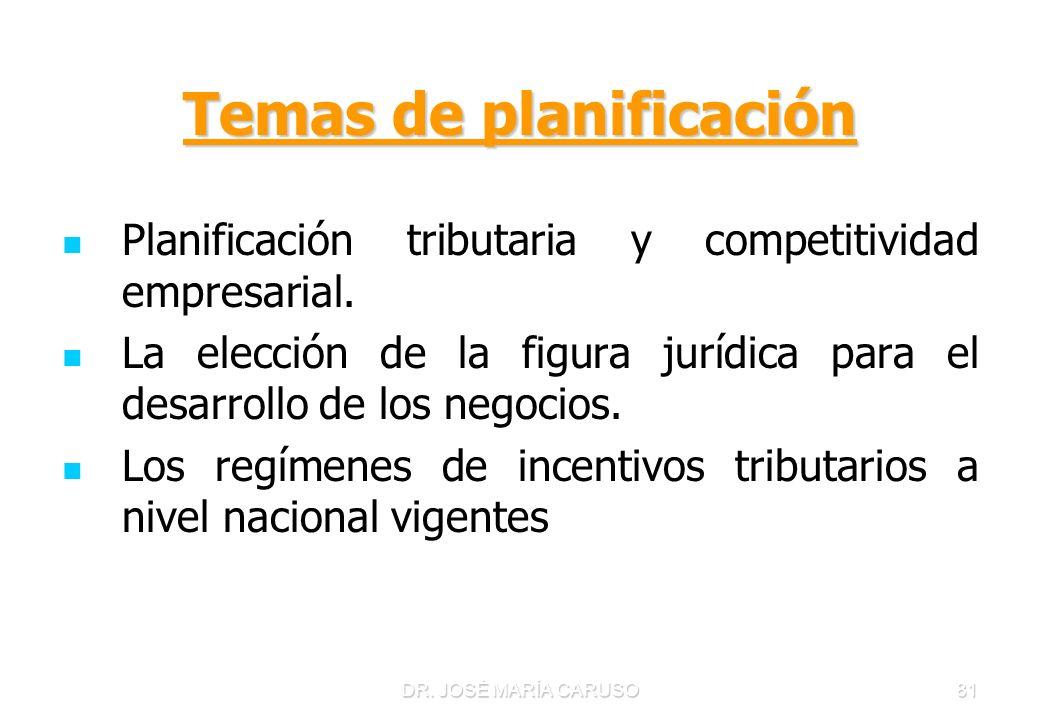 Temas de planificación