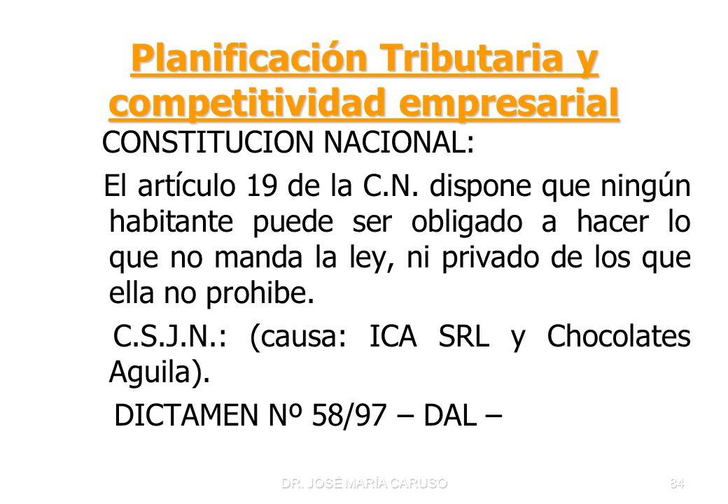 Planificación Tributaria y competitividad empresarial