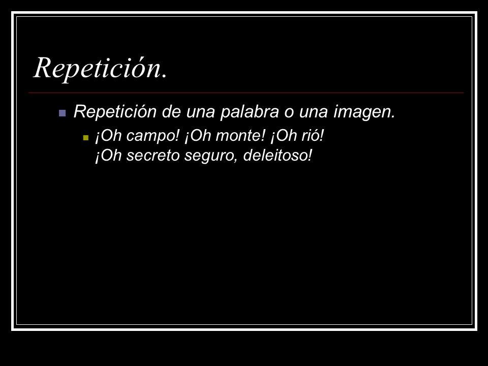 Repetición. Repetición de una palabra o una imagen.