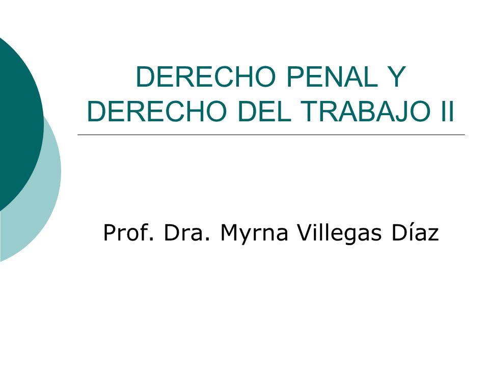 DERECHO PENAL Y DERECHO DEL TRABAJO II